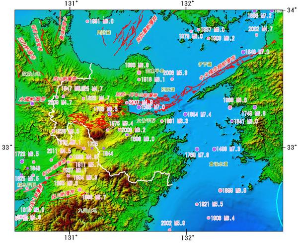 ©日本政府 地震調査研究推進本部 のホームページより