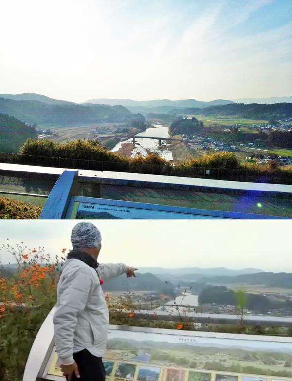 上の写真は病院職員T2による撮影で、下の写真は火野正平さんが訪れた際の様子(©NHK)です。