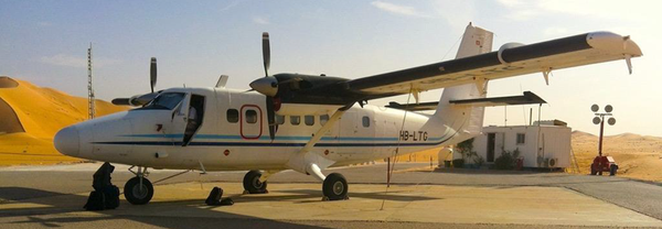 DH6-300 of Zimex Aviation. A picture of their first ATR-72 the company can currently not provide.
