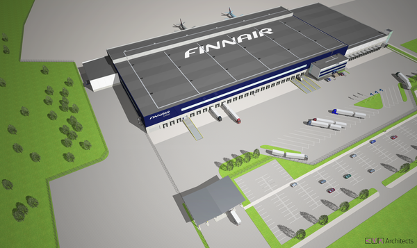 Image of Finnair Cargo's new freight terminal  /  pictures: courtesy AY