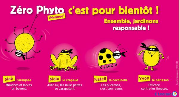 """La campagne """"Zéro phyto"""" affichée dans tous le smagasins E.Leclerc bretons"""