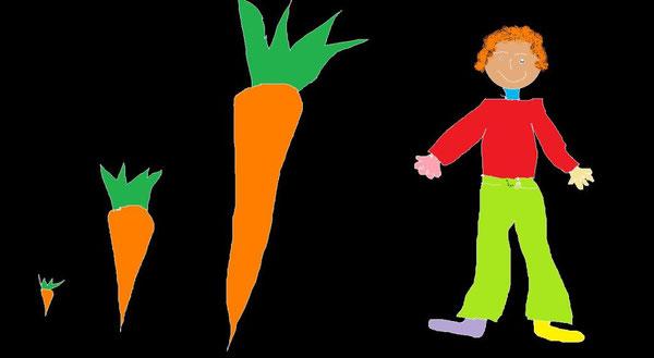 carote e funghi e chi li ha raccolti