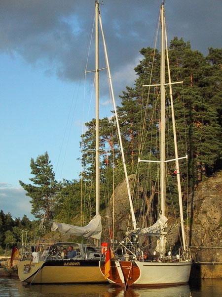 Oslofjord in der Bucht Sandspollen