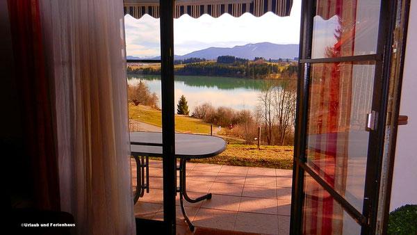 Ausblick aus dem Wohnzimmer Haus 139