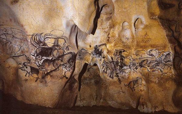 Les plus vieux graffitis connus, à Chauvet, il y a plus de 20 000 ans!