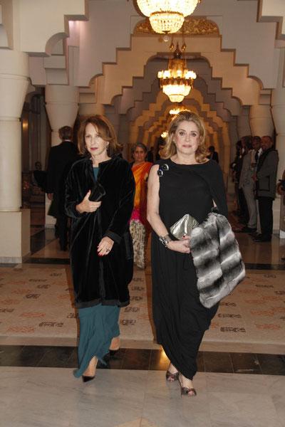 Nathalie BAYE et Catherine DENEUVE  Festival de Marrakech  2010 © Anik COUBLE