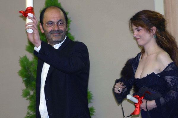 Jean-Pierre Bacri  et Agnès Jaoui - Festival de Cannes 2004 © Anik COUBLE