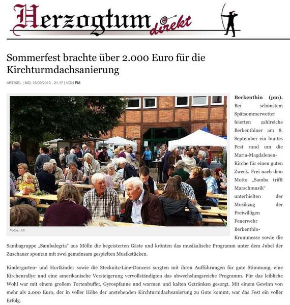 16. Sept.2013 - Herzogtum Direkt - Sommerfest
