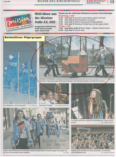 Ev Kirchenzeitung vom 2.Mai2013 - Bilder des Kirchentages