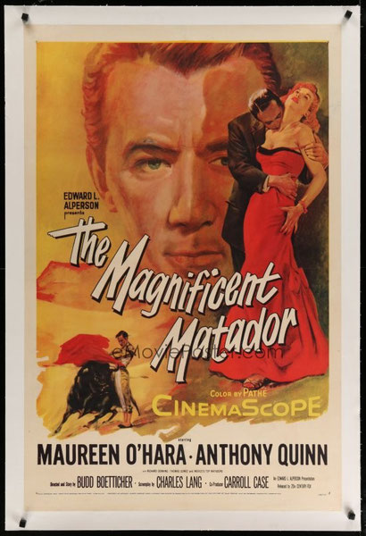THE MAGNIFICENT MATADOR avec ANTHONY QUINN.