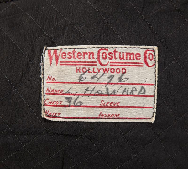 Etiquette WESTERN COSTUME COMPANY LESLIE HOWARD