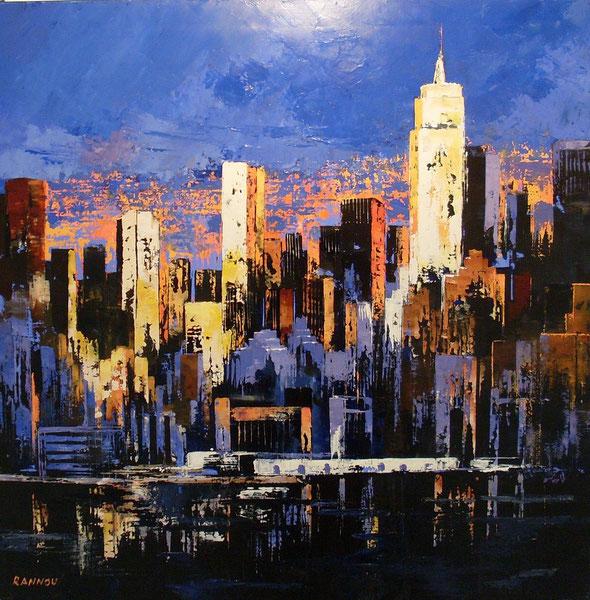 12 - Bonsoir New-York 90 x 90 cm hst