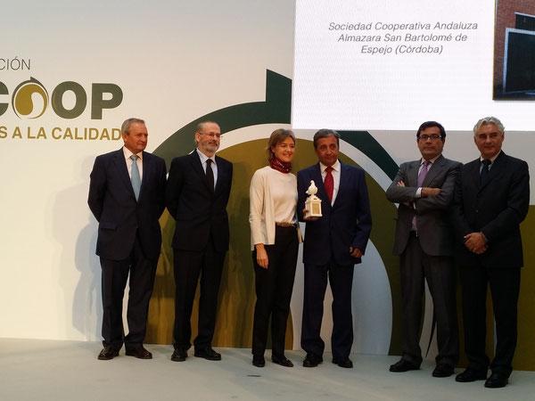 Entrega Premio Dcoop al Mejor Aceite de Oliva Virgen Extra Campaña 2013/2014 Ministerio de Agricultura Madrid 06/11/2014