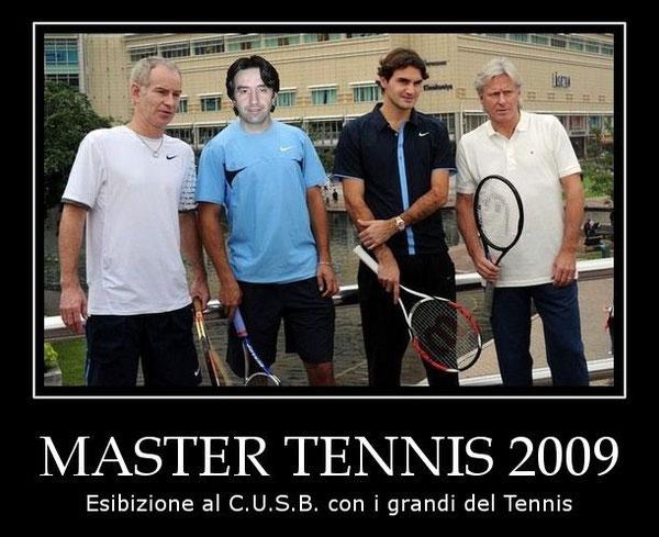 Esibizione con i Grandi del Tennis