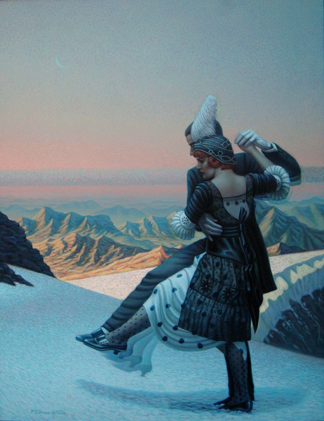 Tango en la nieve. 1989. Oleo sobre lienzo. 160x120cm