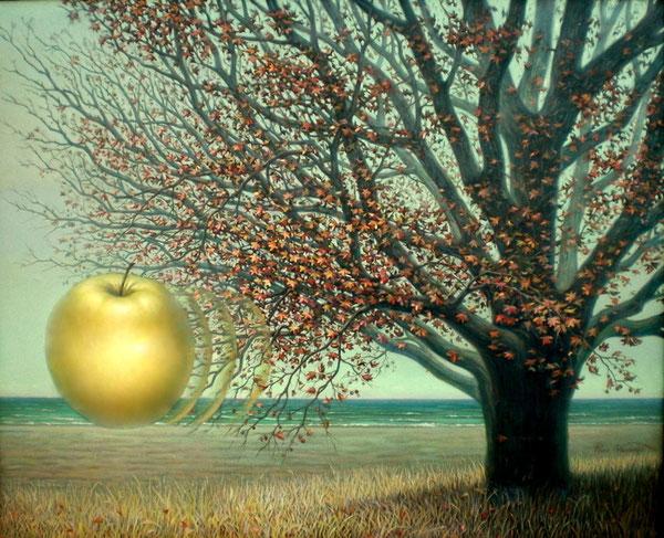 La manzana marina. 1998-2000. Acrilico sobre lienzo. 120x100cm