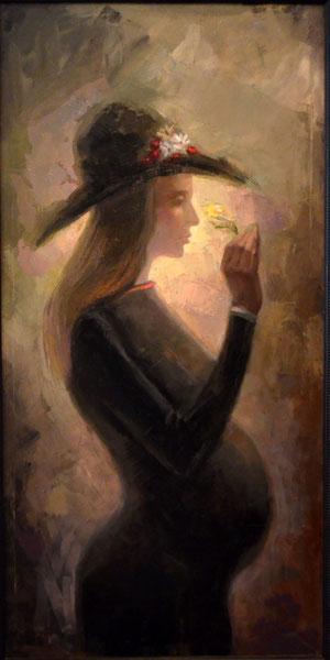Embarazo. 1978. Oleo sobre lienzo. 120x60cm