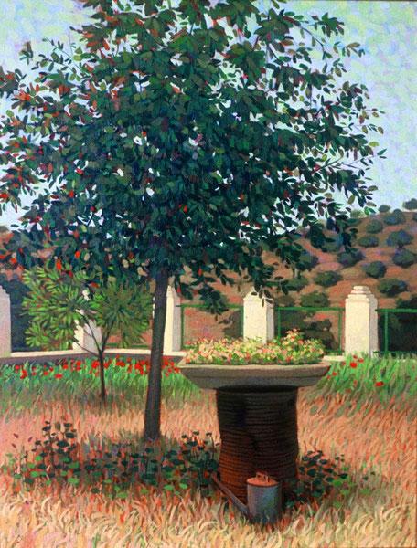Jardin en el campo. Acrilico sobre lienzo. 60x50 cm