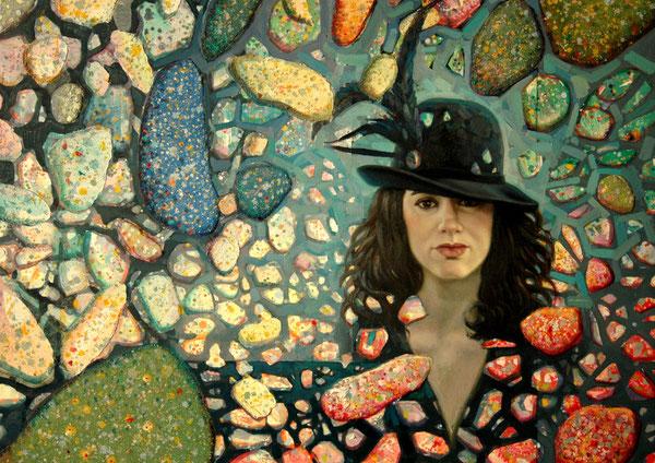 Carmen. 2009. Mixta sobre lienzo. 100x81cm