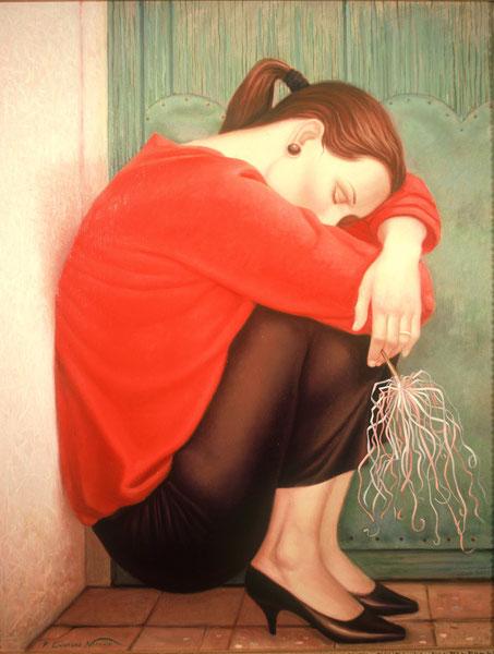 Janet Martell. 1987. Oleo sobre lienzo. 100x81