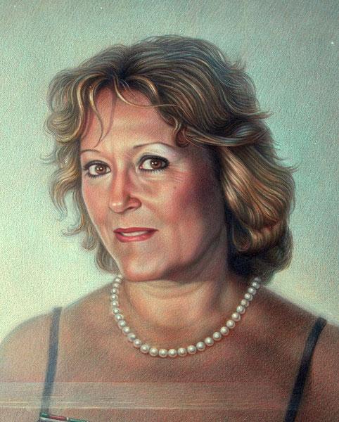 Clara. 2005. Dibujo a color. 60x45cm