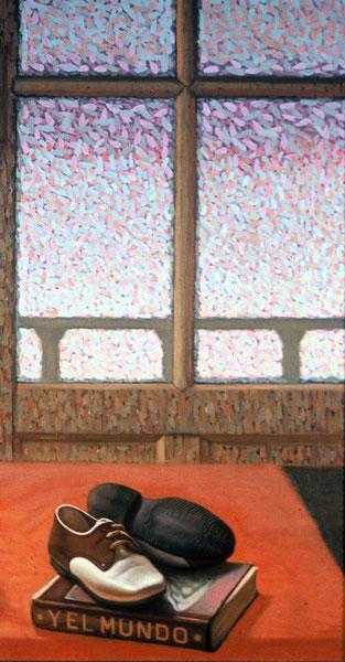 Y el mundo. Fragmento. 1980. Oleo sobre madera.