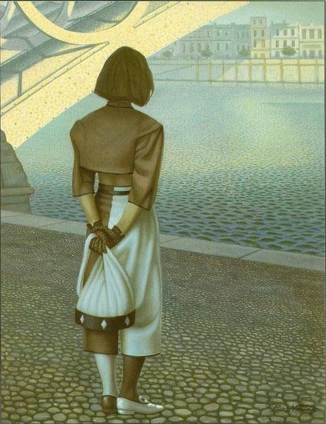 Nostalgia y Triana. 1991. Acrilico sobre tabla. 120x80cm
