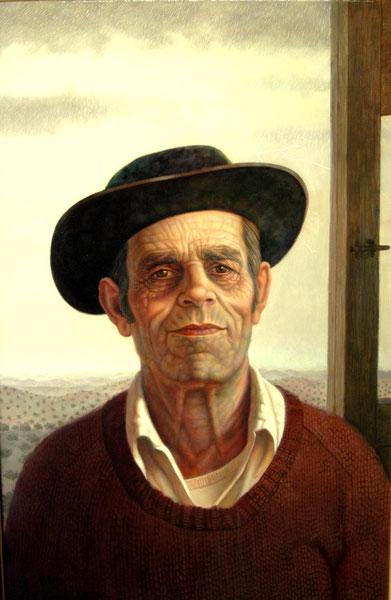 Julián (Barriga verde). 1992. Acrilico-oleo sobre tabla. 81x122cm