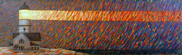 Luz de horizonte. 1990. Acril sobre madera. 120x81cm
