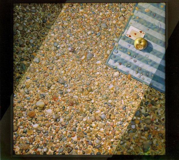 La luz del pecado. 1991. Acril sobre madera. 100x100cm