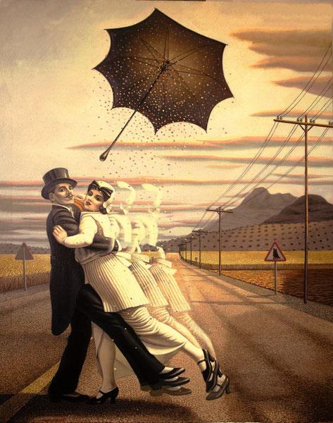 El tango de la carretera. 1987. Acrilico sobre lienzo. 146x120cm