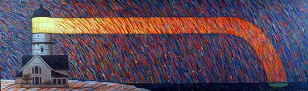 Luz flacida. 1990. Acril sobre madera. 120x81cm