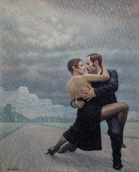 El tango en la lluvia.