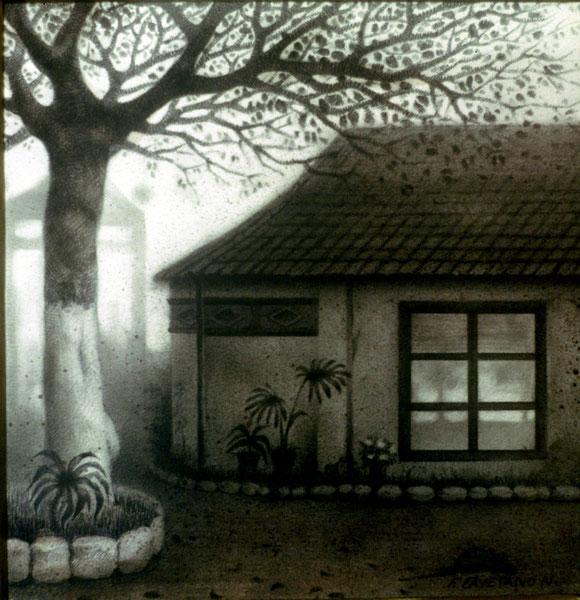 Venta Pilín, Sevilla. 1996. Dibujo a grafito. 20x20cm