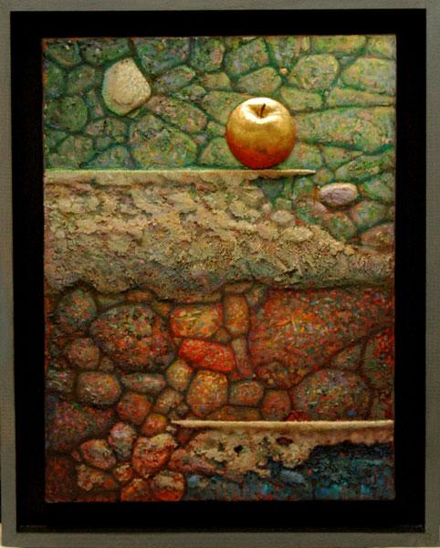 La manzana dorada. 2000. Tecnica mixta. 70x55cm