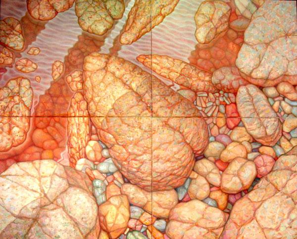 Piedras de Rio Tinto (Huelva). 2005. Acrilico sobre lienzo. 200x160cm