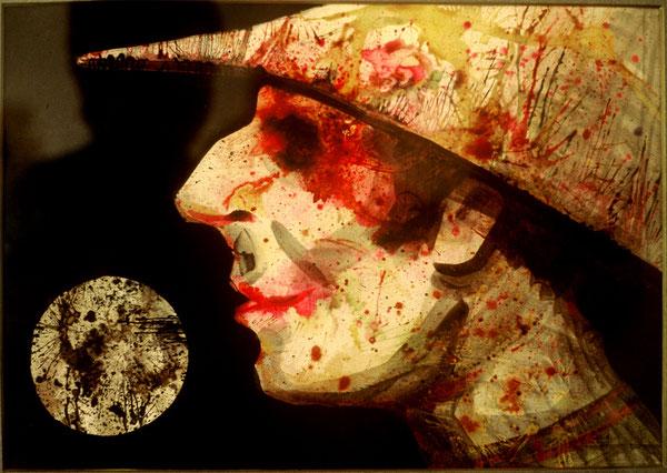 El buscador de estrellas. 1995. Tinta china. 30x20cm