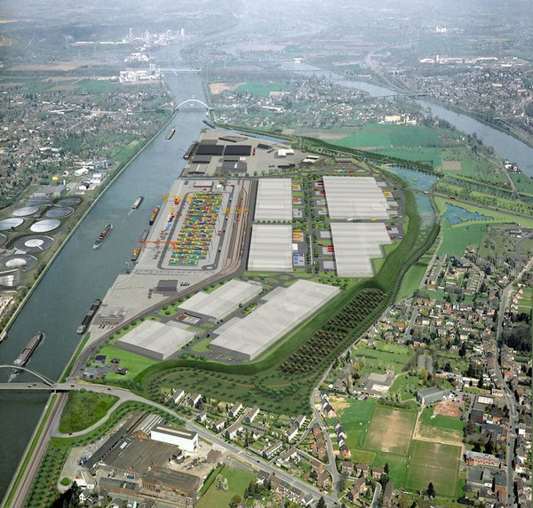 Port de Liège Trilogiport en 3D