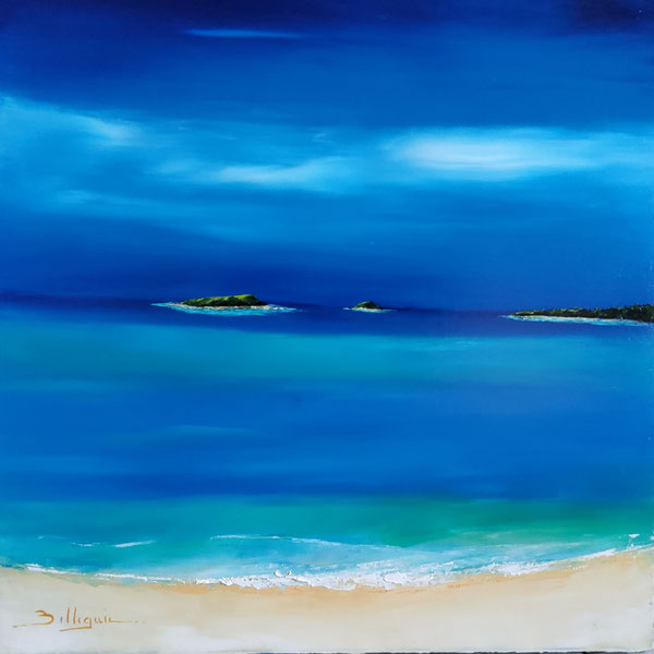 alain-belleguie-île-des-pins-Caledonia-Therapy Huile/toile 60 cm x  60 cm