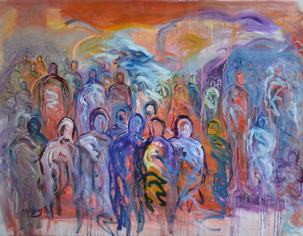 """Progress"" - August 2016, 100 cm by 70 cm, Oil on Canvas."