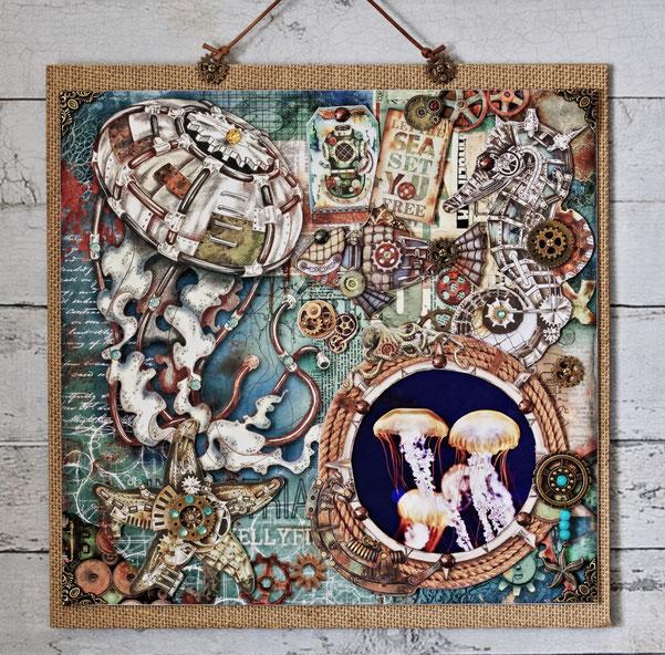 *7/10銀座ソレイユセミナー 「Jerry Fish」スティームパンクな海の生物🐡カッコいい12インチ作品です。