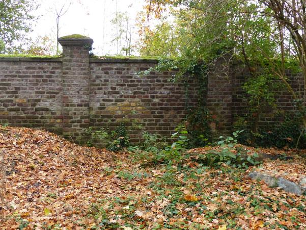 Gräberfeld 15 auf dem Nordfriedhof- Gräber an der Mauer - Früher die sogenannte Selbstmörderecke