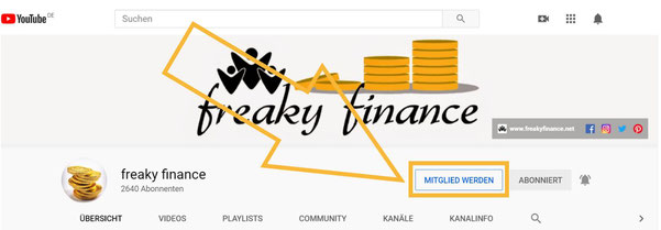 freaky finance, YouTube-Kanal, Kanalmitgliedschaft, Vorteile