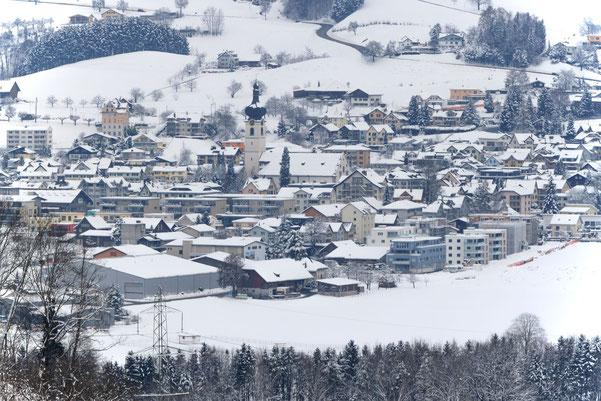 Kaltbrunn, eingeschneit im Dezember 2012