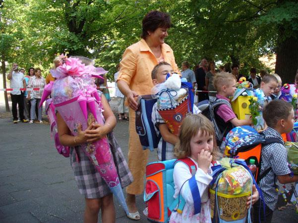 Unsere liebsten Fahrten zur Ausgabe der Zuckertüten am Schulanfang.
