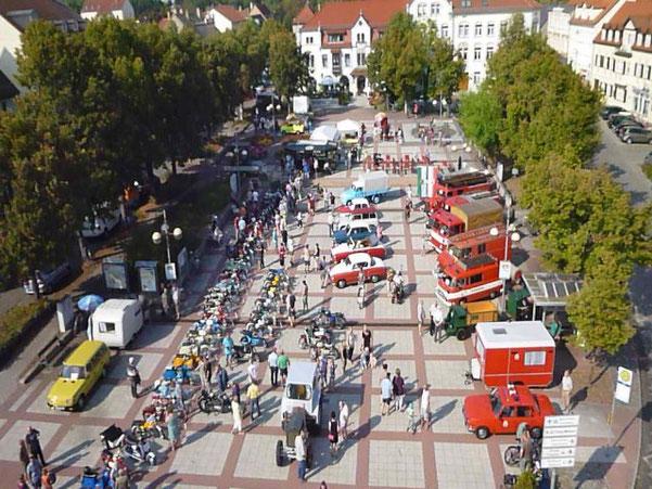 Präsentation auf dem Markt Groitzsch am 11.09.2016