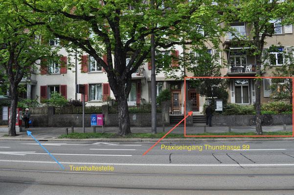 Praxiseingang Thunstrasse