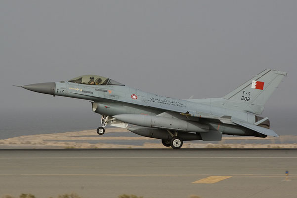 Un Lokheed Martin F-16C della Royal Bahraini Air Force (Foto: USAF)