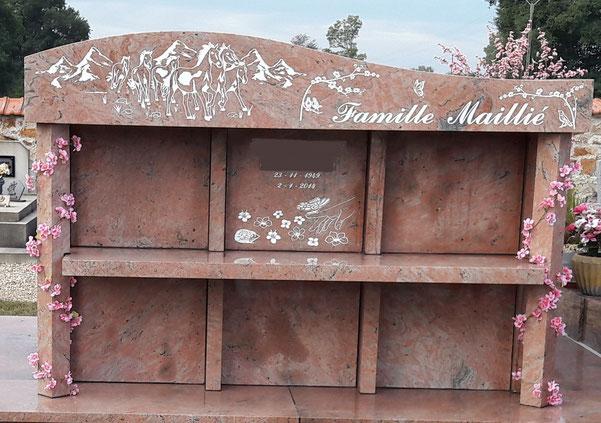 gravure pierre tombale, décoration funéraire, gravure sur pierre, graveur pierre tombale, PFG, ROC ECLERC, ALLIANCE FUNERAIRE