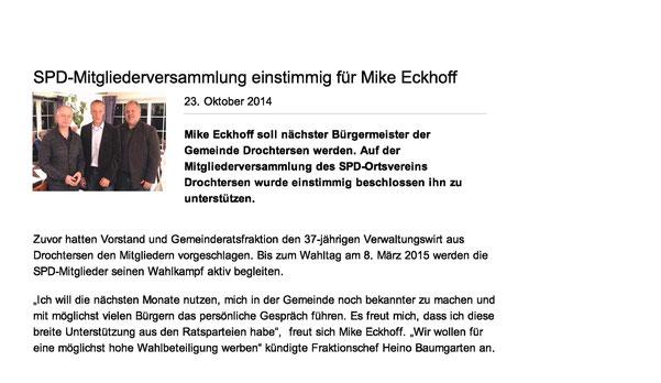 Artikel http://www.spd-drochtersen.de/aktuell/nachrichten/2014/445181.php vom 23. Oktober 2014